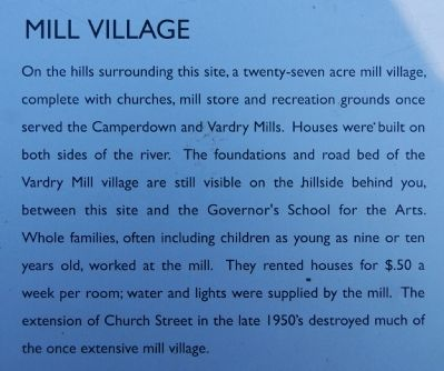 Old Mill Ruins Marker - Mill Village image. Click for full size.