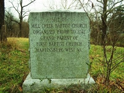 Mill Creek Baptist Church Marker image. Click for full size.