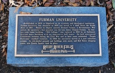 Furman University Marker image. Click for full size.