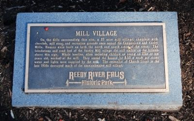 Mill Village Marker image. Click for full size.