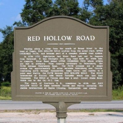 Red Hollow Road Marker image. Click for full size.