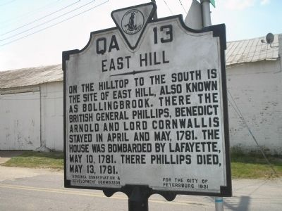 East Hill Marker image. Click for full size.