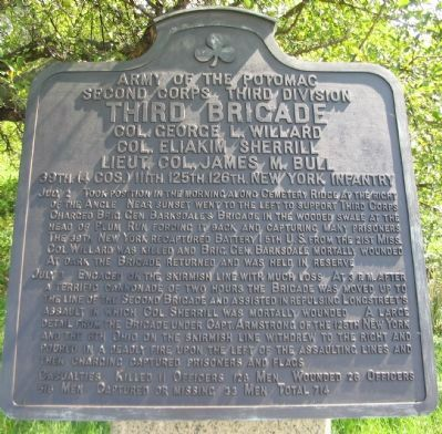 Third (Willard's) Brigade Tablet image. Click for full size.