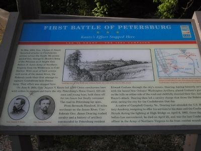 First Battle of Petersburg Marker image. Click for full size.