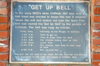 Get Up Bell Marker image. Click for full size.