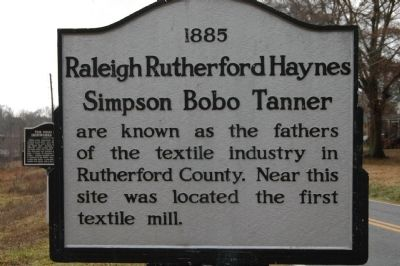 Raleigh Rutherford Haynes / Simpson Bobo Tanner Marker image. Click for full size.