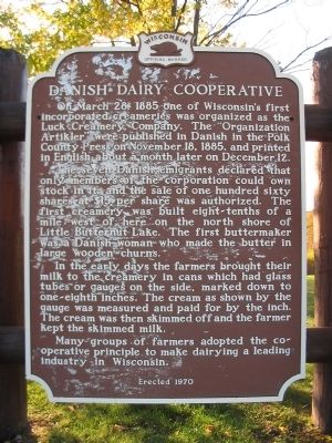 Danish Dairy Cooperative Marker image. Click for full size.