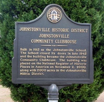 Johnstonville Historic District Marker image. Click for full size.