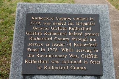 Rutherford County Marker image. Click for full size.