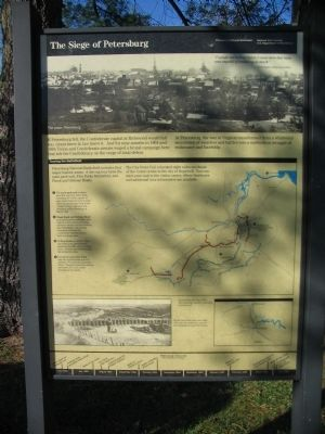 The Siege of Petersburg Marker image. Click for full size.