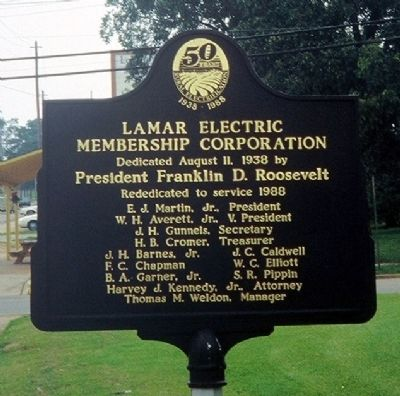 Lamar Electric Membership Corporation Historical Marker
