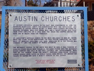 Austin Churches Marker image. Click for full size.