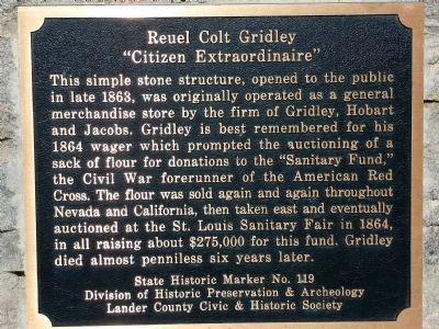 Reuel Cold Gridley Marker image. Click for full size.
