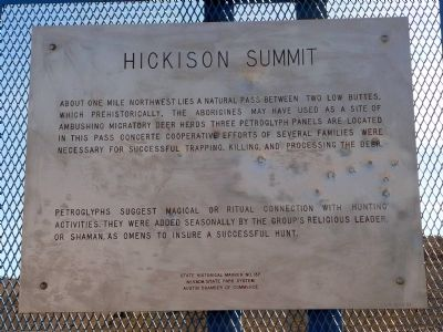 Hickison Summit Marker image. Click for full size.