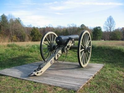 Confederate 12-pounder Iron Napoleon image. Click for full size.
