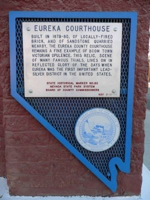 Eureka Courthouse Marker image. Click for full size.