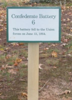 Confederate Battery 6 Marker image. Click for full size.