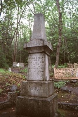 Gravesite of Frank Reid - Hero of Skagway image. Click for full size.