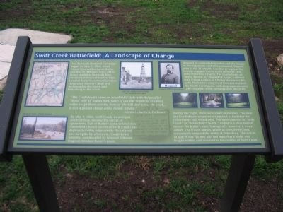 Swift Creek Battlefield: A Landscape of Change Marker image. Click for full size.
