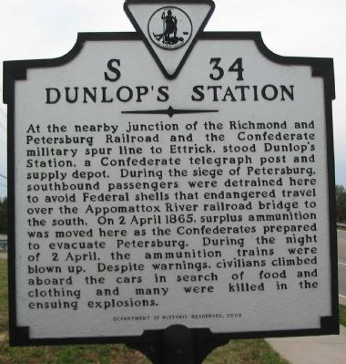 Dunlop's Station Marker image. Click for full size.