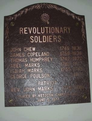 Revolutionary War Plaque image. Click for full size.