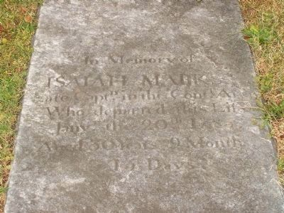 Captain Isaiah Marks Gravesite image. Click for full size.