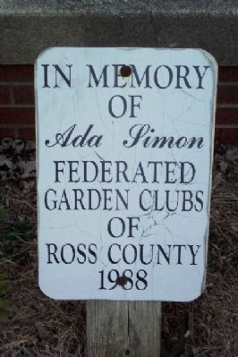 Ada Simon Memorial Marker image. Click for full size.