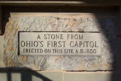 Stone from Ohio's First Statehouse image. Click for full size.