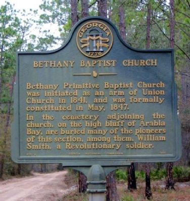 Bethany Baptist Church Marker image. Click for full size.