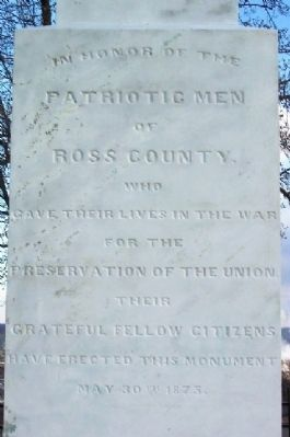 Ross County Civil War Memorial Dedication (West Face) image. Click for full size.