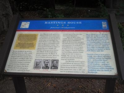 Hastings House Marker image. Click for full size.