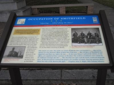 Occupation of Smithfield Marker image. Click for full size.