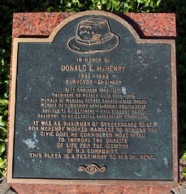 Donald E. McHenry Marker image. Click for full size.