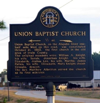 Union Baptist Church Marker image. Click for full size.