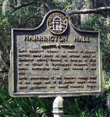 Harrington Hall Marker image. Click for full size.