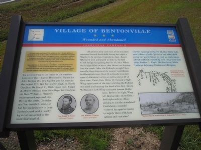 Village of Bentonville Marker image. Click for full size.