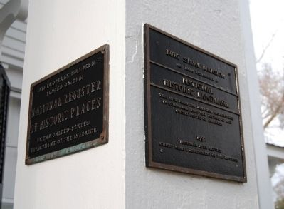 Burt-Stark House - National Register of Historic Places and National Historical Landmark Plaques image. Click for full size.