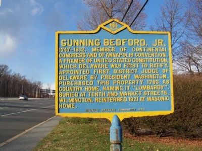 Gunning Bedford, Jr. Marker image. Click for full size.