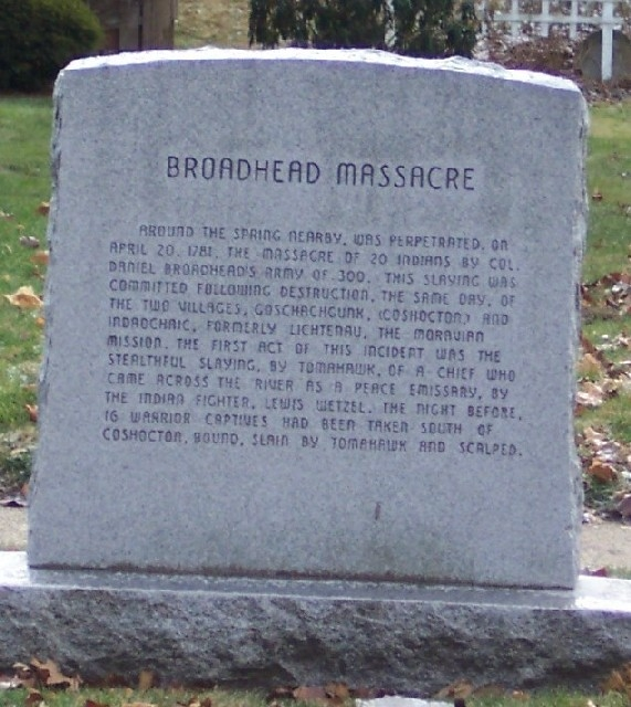 Broadhead Massacre Marker