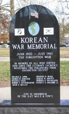 Coshocton County Korean War Memorial image. Click for full size.
