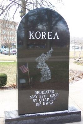 Coshocton County Korean War Memorial Reverse image. Click for full size.