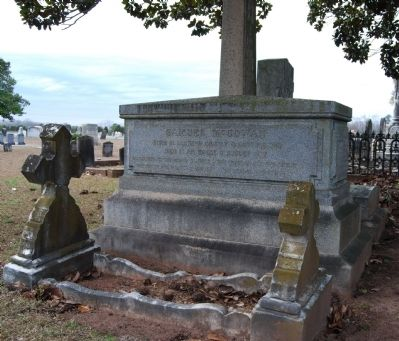 Gen. Samuel McGowan Crypt - South Side<br>Long Cane Cemetery, Abbeville, SC image. Click for full size.