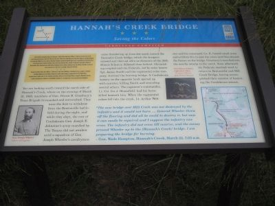 Hannah's Creek Bridge Marker image. Click for full size.