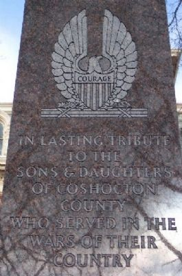 Coshocton County War Memorial Detail image. Click for full size.