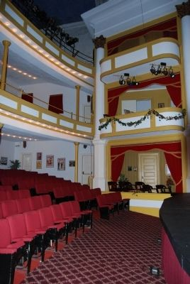 Abbeville Opera House Interior<br>Stage Left Box Seats image. Click for full size.