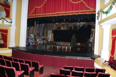 Abbeville Opera House Interior<br>Stage from Orchestra Seating image. Click for full size.