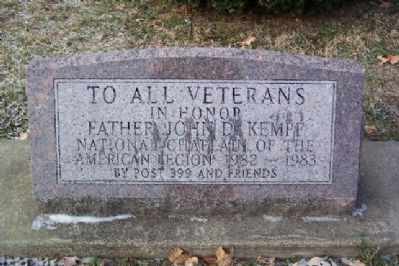 Father John D. Kempf Veterans Memorial image. Click for full size.