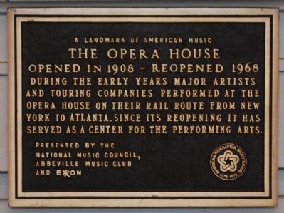Landmark of American Music Award -<br>Located on Rear Lobby Door Leading Into Theatre image. Click for full size.