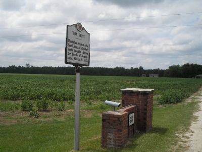Marker on the Averasboro Battlefield image. Click for full size.