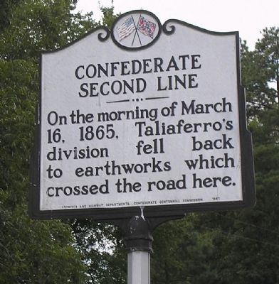 Confederate Second Line Marker image. Click for full size.